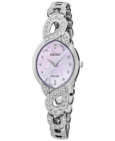 Seiko Women's Solar Stainless Steel Bracelet Watch 20mm SUP339