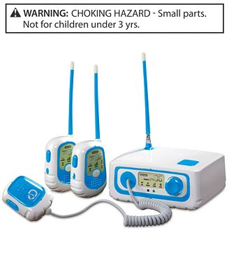 Discovery Kids 3-Way Walkie Talkie with Base Station