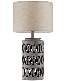 INK+IVY Ambit Cement Table Lamp