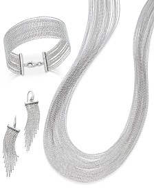 Glamorous Multi-Strand Beaded Jewelry in Sterling Silver