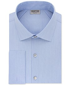 Men's Slim-Fit Techni-Cole Stretch Performance French-Cuff Dress Shirt