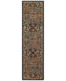 "Karastan Spice Market Alacantara Sapphire 2'4"" x 7'10"" Runner Rug"