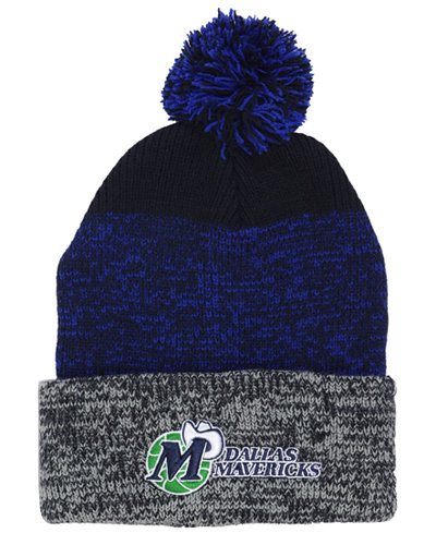 '47 Brand Dallas Mavericks Black Static Pom Knit Hat