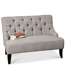 Dennon Fabric Settee, Quick Ship
