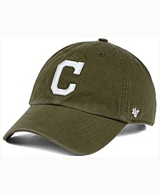 Cleveland Indians Olive White CLEAN UP Cap