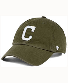 '47 Brand  Cleveland Indians Olive White CLEAN UP Cap