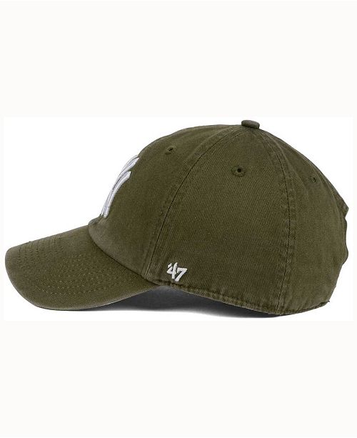 9aba37d4550 47 Brand New York Yankees Olive White CLEAN UP Cap - Sports Fan Shop ...