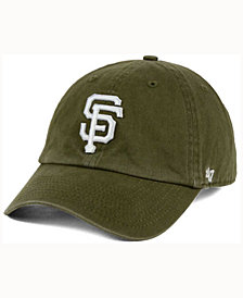 '47 Brand  San Francisco Giants Olive White CLEAN UP Cap