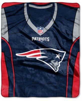 New England Patriots Jersey Plush Raschel Throw