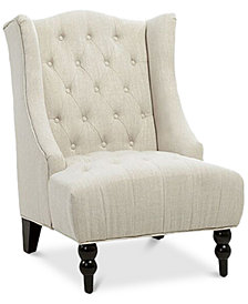 Fabyan High Back Wing Chair, Quick Ship