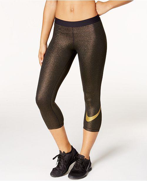 d0f45e4e06a95 Nike Pro Sparkle Capri Leggings & Reviews - Pants & Capris - Women ...