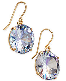 kate spade new york Shine On Gold-Tone Crystal Drop Earrings