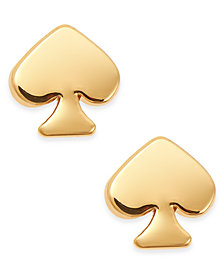 kate spade new york  Mini Signature Spade Gold-Tone Stud Earrings