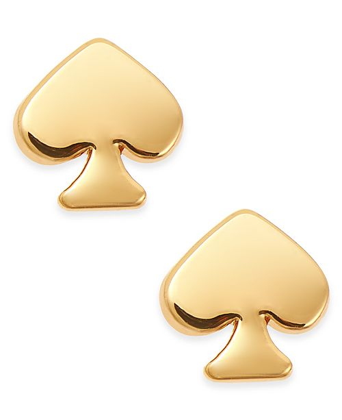 3a007c2934f77a kate spade new york Mini Signature Spade Gold-Tone Stud Earrings ...
