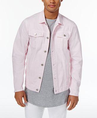 Jaywalker Men's Pink Trucker Jacket, Created for Macy's - Coats ...