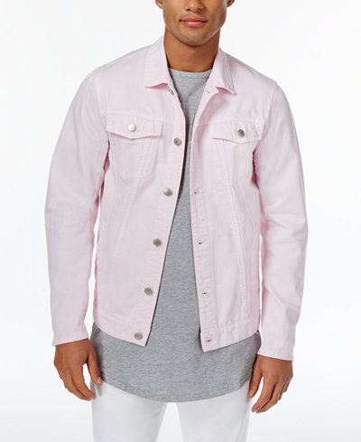 Jaywalker Men's Pink Trucker Jacket, Created for Macy's - Coats ...