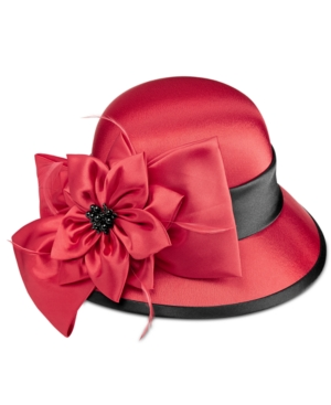 Retro Vintage Style Hats August Hats Satin Flower Dress Cloche $27.20 AT vintagedancer.com