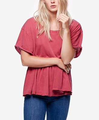 Free People Odyssey Seam-Detail Top