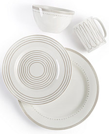 kate spade new york Charlotte Street Grey West Dinnerware Collection