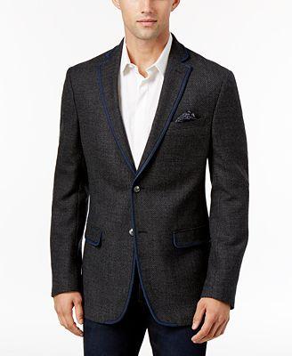 Tallia Men's Charcoal Sport Coat - Blazers & Sport Coats - Men ...