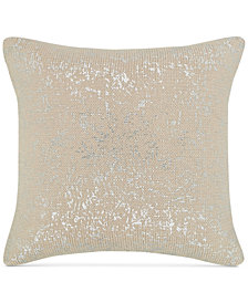 """Hotel Collection Distressed Chevron 18"""" Square Decorative Pillow, Created for Macy's"""
