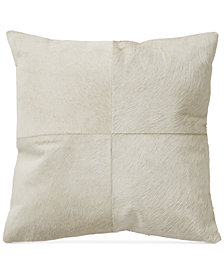 "Donna Karan Exhale Taupe 18"" Square Decorative Pillow"