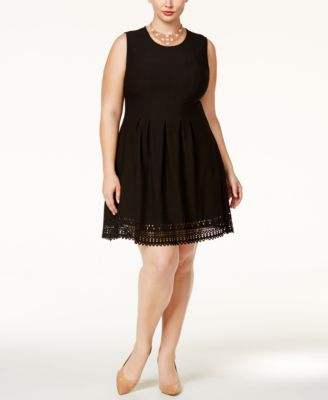 Monteau Trendy Plus Size Fit & Flare Dress