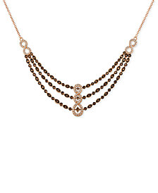 Le Vian Chocolatier® Diamond Fancy Collar Necklace (1-3/8 ct. t.w.) in 14k Rose Gold