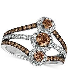 Chocolatier Diamond Statement Ring (1-1/3 ct. t.w.) in 14k White Gold