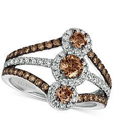 Le Vian® Chocolatier Diamond Statement Ring (1-1/3 ct. t.w.) in 14k White Gold
