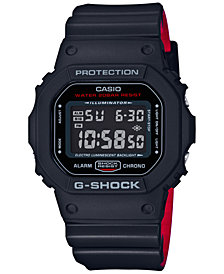 G-Shock Men's Digital Blackout Black Resin Strap Watch 48x42mm DW5600HR-1