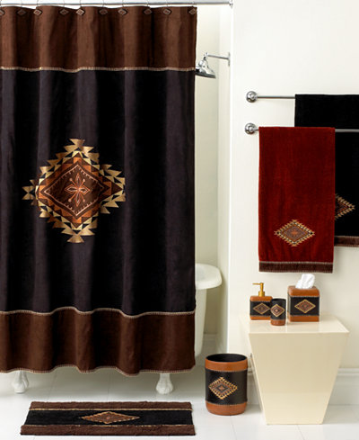 maroon shower curtain set. Avanti Bath  Mojave Collection Bathroom Accessories Bed