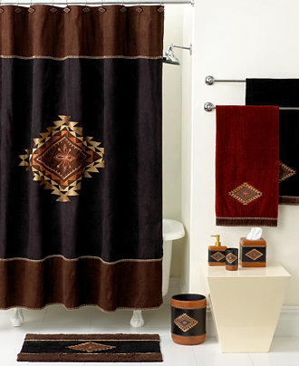 Shower Curtains bathroom ensembles shower curtains : Avanti Bath, Mojave Collection - Bathroom Accessories - Bed & Bath ...