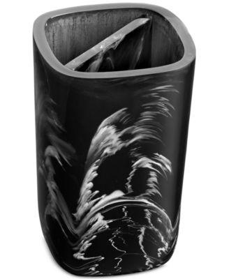 Murano Black Toothbrush Holder