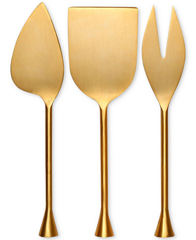 Thirstystone 3-Pc. Gold-Tone Cheese Tool Set