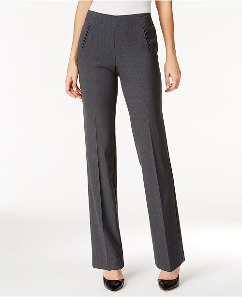Style & Co Petite Pull-On Straight-Leg Pants, Created for Macy's