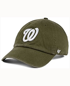 Washington Nationals Olive White Clean Up Cap