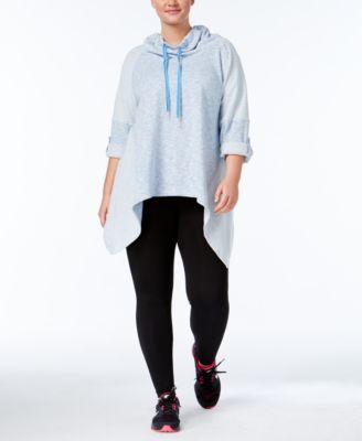 Calvin Klein Performance Cowl-Neck Handkerchief-Hem Top