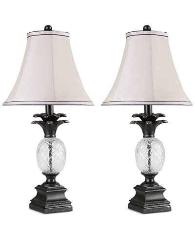 Abbyson Living Ella Set of 2 Pineapple Table Lamps