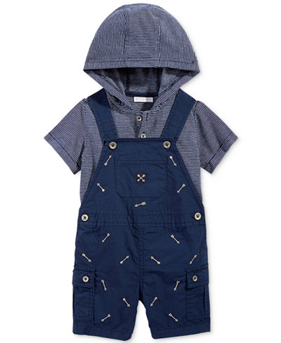 First Impressions 2-Pc. Hoodie & Arrows Shortall Set, Baby Boys (0-24 months), Only at Macy's
