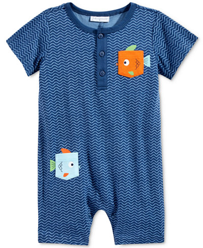 First Impressions Fish Pocket Romper, Baby Boys (0-24 months), Only at Macy's