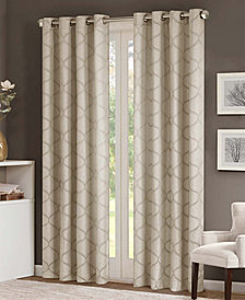 "Madison Park Amara 50"" x 95""  Jacquard Ogee  Grommet Window Panel"