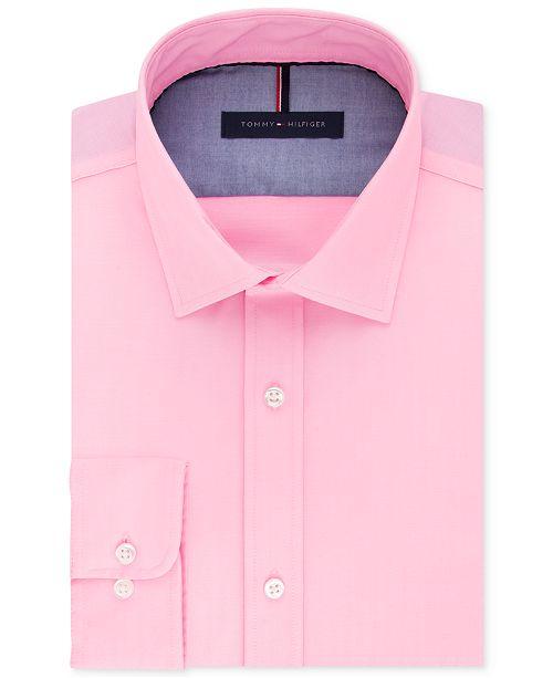 edf59c38 Tommy Hilfiger Men's Slim-Fit Non-Iron Solid Dress Shirt & Reviews ...