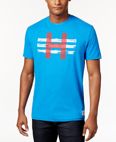 Tommy hilfiger men 39 s big tall graphic print t shirt t for Big and tall printed t shirts