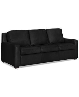 """Lisben 83"""" Leather Sofa"""