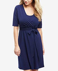 Motherhood Maternity Faux-Wrap Nursing Dress