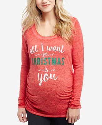 Motherhood Maternity Long-Sleeve Graphic T-Shirt