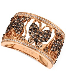 Le Vian Chocolatier® Diamond Butterfly Ring (1 ct. t.w.) in 14k Rose Gold