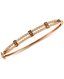 Le Vian Chocolatier® Diamond Two-Row Bangle Bracelet (1-1/10 ct. t.w.) in 14k Rose Gold