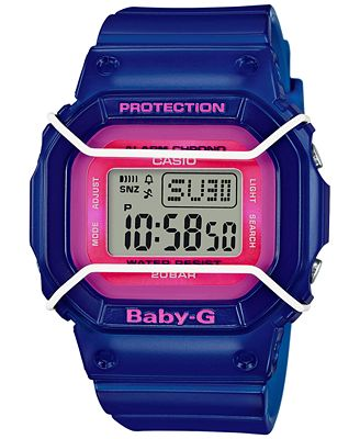 Baby-G Women's Digital Blue Resin Strap Watch 40x45mm BGD501FS-2